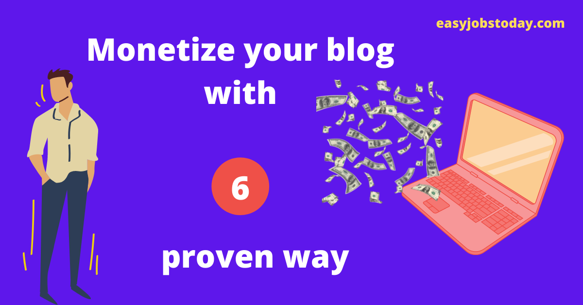 You are currently viewing Top 6 proven ways to Monetize a WordPress Blog in 2021